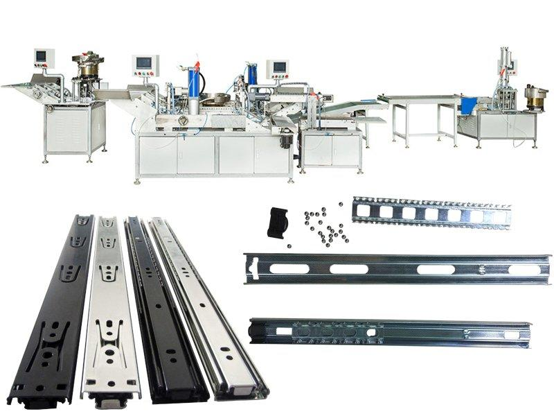 semi automatic telescopic drawer slide production line
