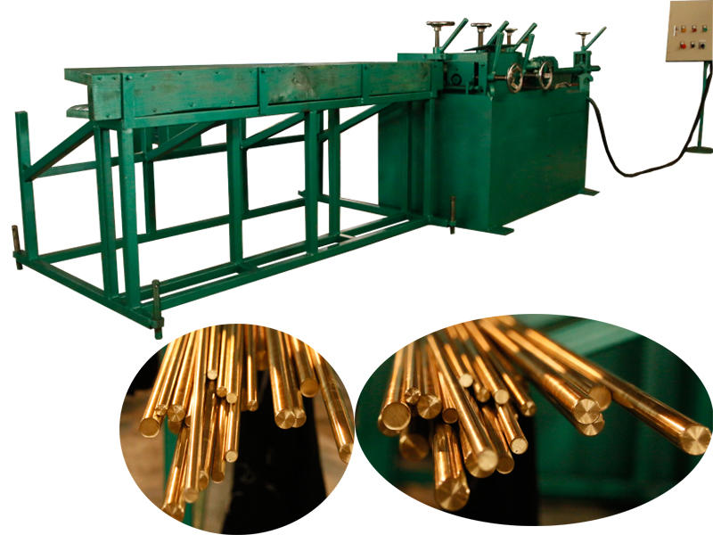 Brass rod automatic straightening machine