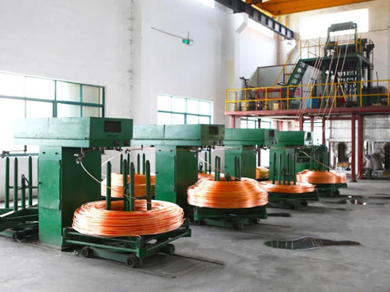 Brass wire up-casting production line