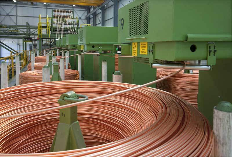Copper rod upward casting production line