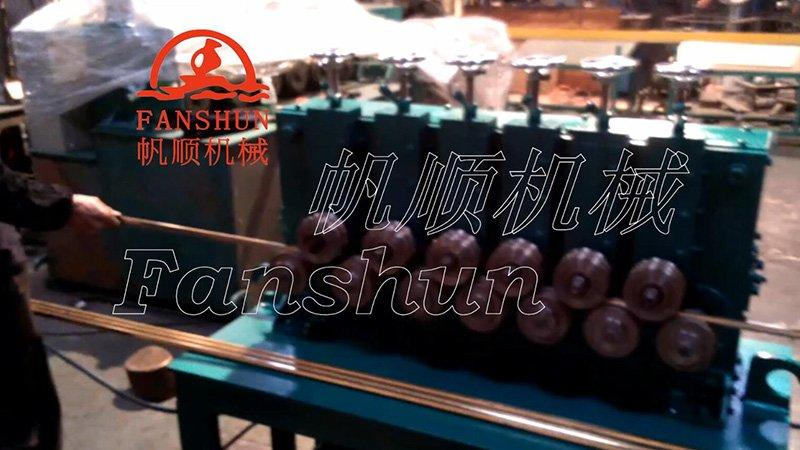 Brass bar 13 wheel straightening machine