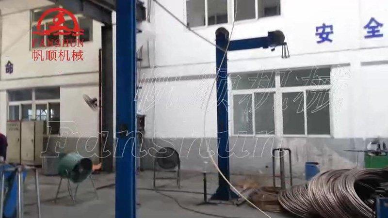 Brass wire up-casting machine-Wire rewinding machine