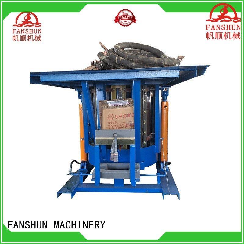 FANSHUN easy operating brass billet equipment for bronze bar production in industrial park