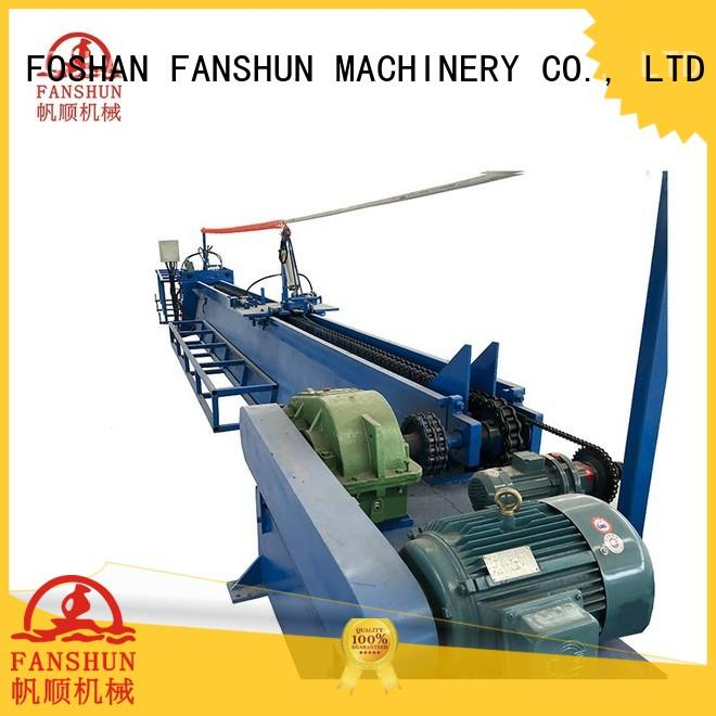 FANSHUN durable peeling machine for bronze tube production in workhouse