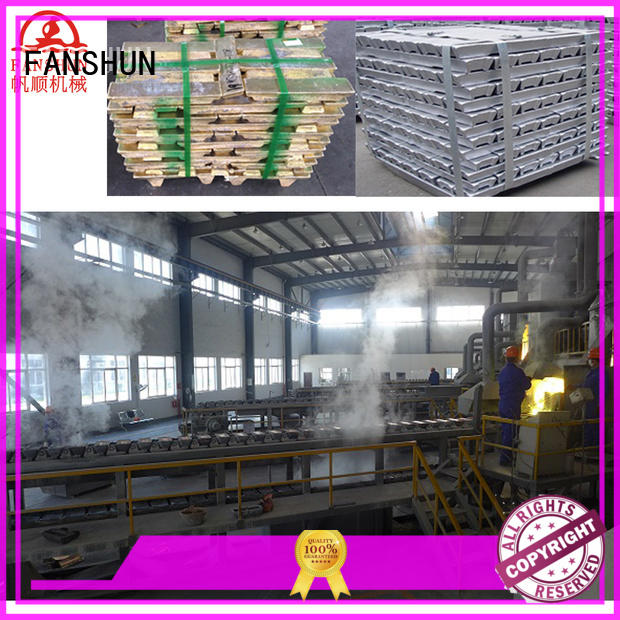 FANSHUN new-arrival brass ingot making mahcine for brass production in factory