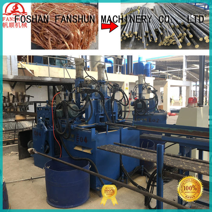 FANSHUN copper production line for bronze tube in industrial park