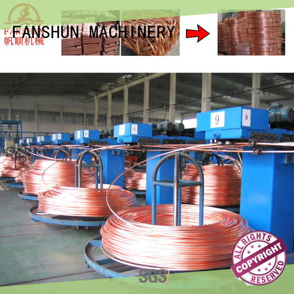 FANSHUN easy operating copper wire making machine for steel melting in factory