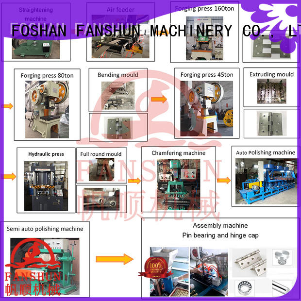 FANSHUN new-arrival door hinge making machine for Door hinge production line in workhouse