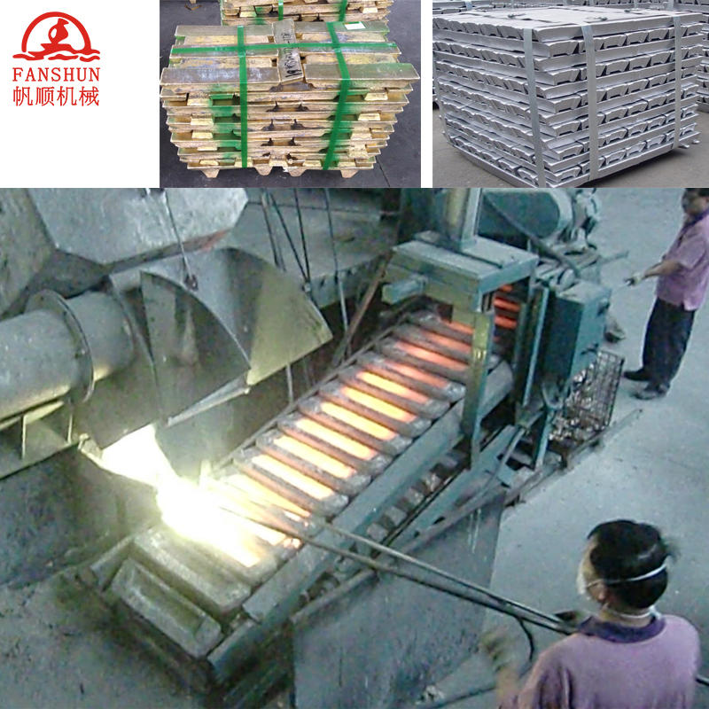 Brass,Aluminum alloy lead ingot casting machine used for Aluminum recycling plant