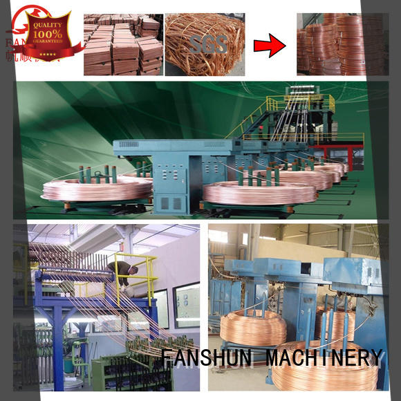FANSHUN sheet upwards continuous casting machines with good reputation in industrial park