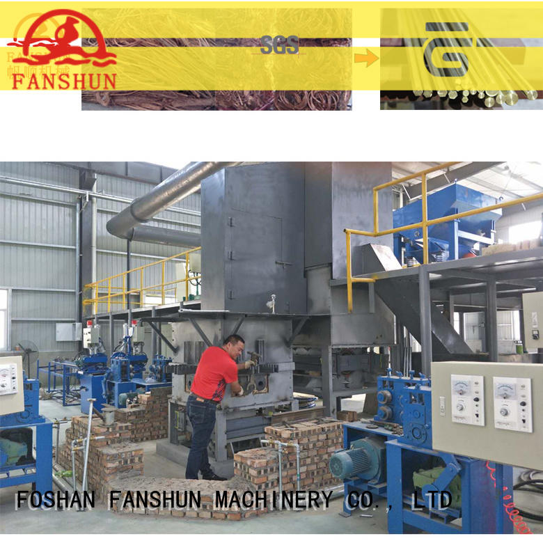 FANSHUN equipment metal melting furnace in different color for zinc