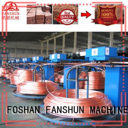 line copper continuous casting machine manufacturers machine FANSHUN company