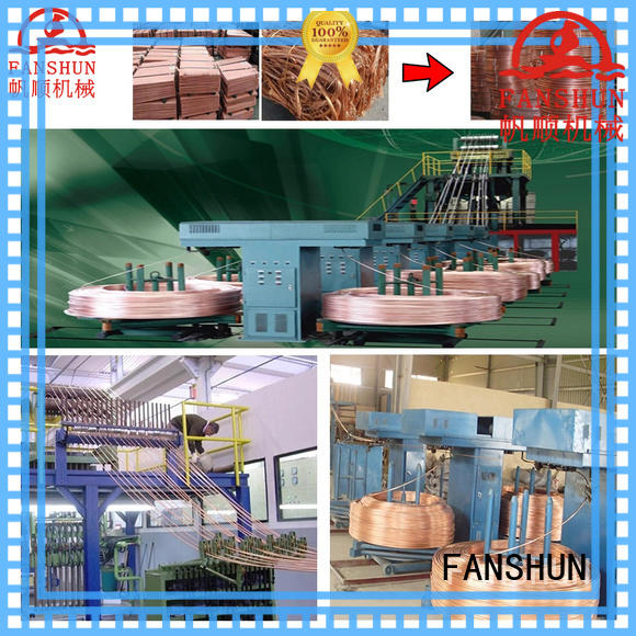 scrap copper wire rod upcast plant for brass melting in workhouse FANSHUN