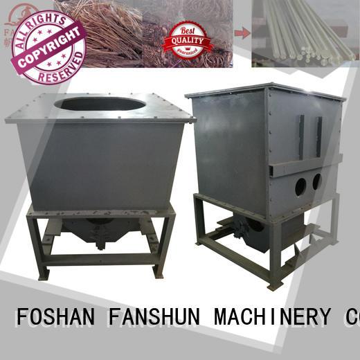 aluminium induction melting high quality FANSHUN Brand copper melting furnace supplier