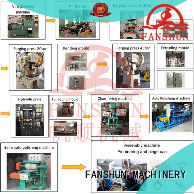 FANSHUN making hinge mahcines supplier for bronze tube production in workhouse