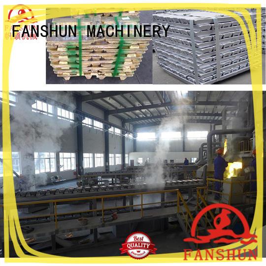 FANSHUN 75kw120kw180kw240kw aluminum ingot casting molds for Door hinge production line in industrial park