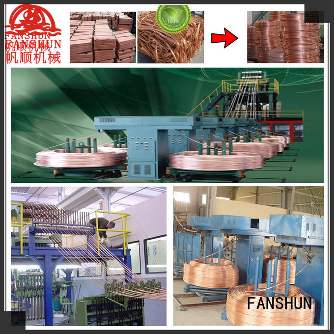 FANSHUN safety upward continuous casting machine with good reputation in factory
