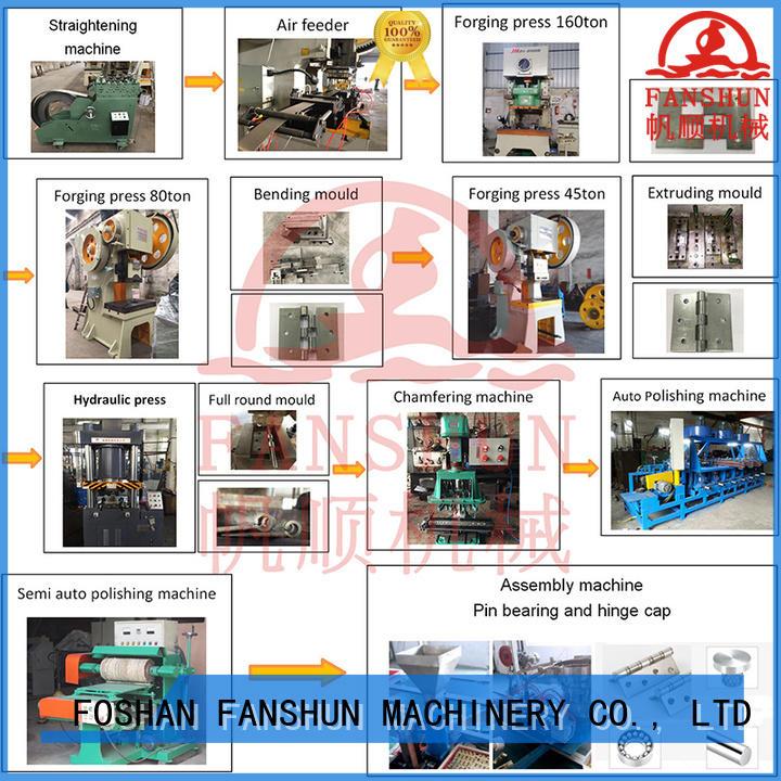 door hinge machine removing dust FANSHUN Brand hinges making machine