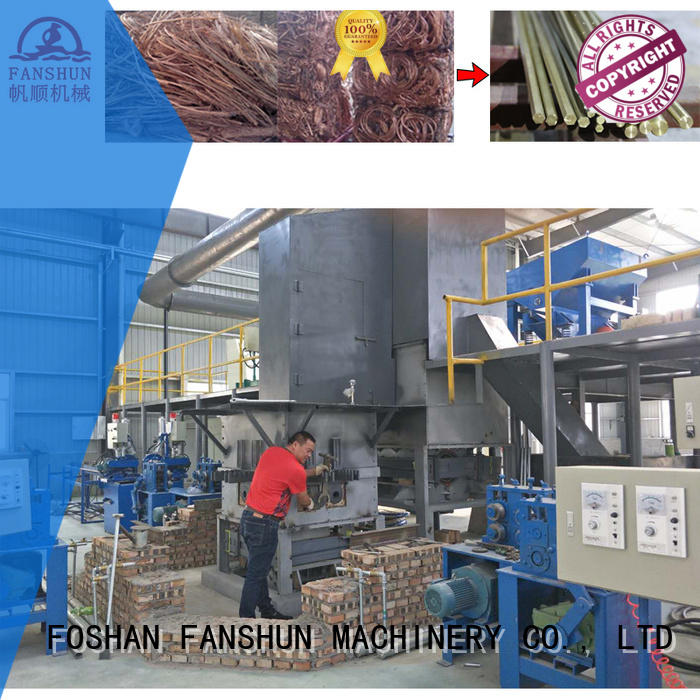 Quality FANSHUN Brand brass tube extruding production production