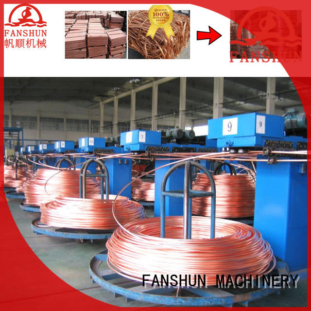 electric copper wire casting machine for aluminium melting in workhouse FANSHUN