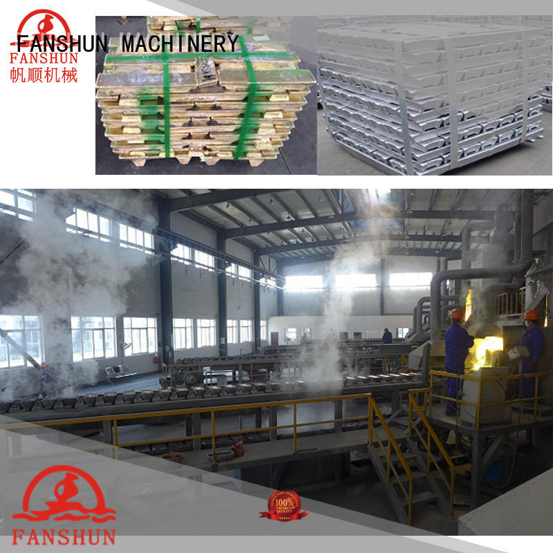 FANSHUN eco-friendly billet making machine for copper production in workhouse