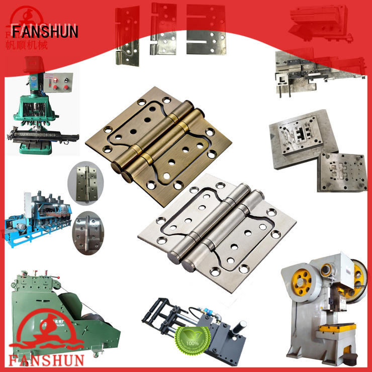 FANSHUN solid door hinge punching machine for square bar in factory