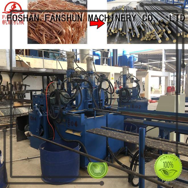 copper production continuous rods FANSHUN Brand copper production line supplier