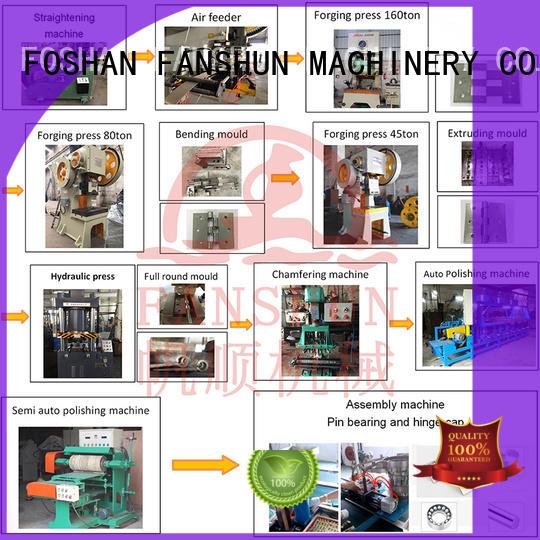 line hinge stainless FANSHUN Brand door hinge machine factory