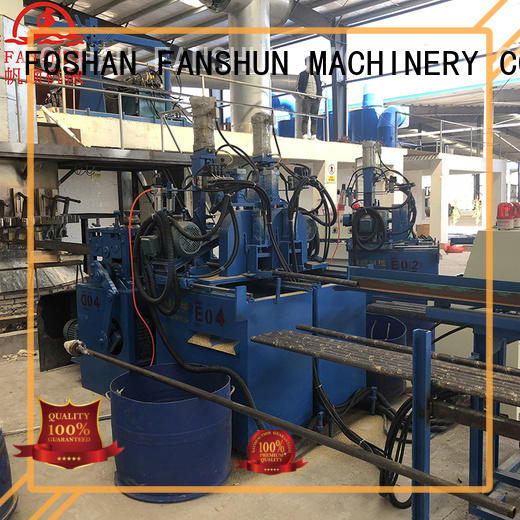 FANSHUN affordable copper rod casting machine automatic for heat exchanger