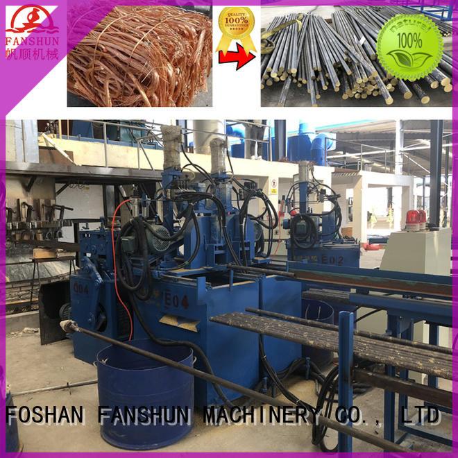 rods continuous line machine FANSHUN Brand copper production line supplier