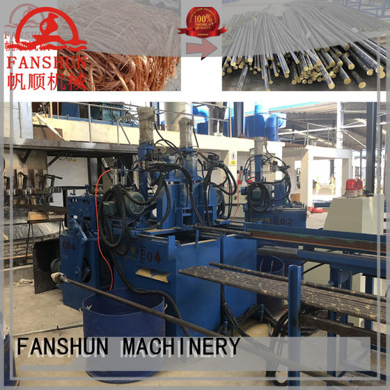 FANSHUN line melting and holding furnace factory price for zinc
