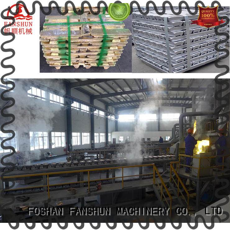 FANSHUN eco-friendly lead ingot casting machine for Door hinge production line in factory