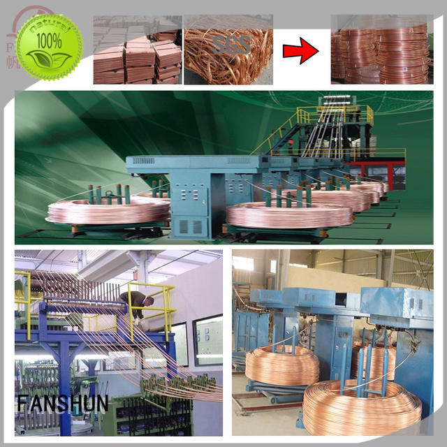 temperature vertical upwards continuous casting machines for oxygen free copper wire aluminum in workhouse FANSHUN
