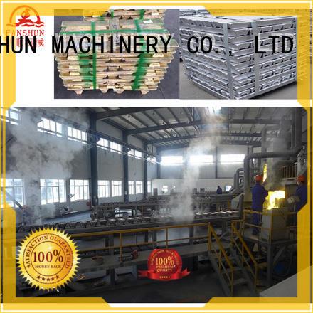 FANSHUN Brand melting brass aluminum ingot casting machines alloy