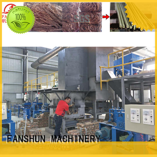 FANSHUN remove tube making machine in different color in industrial park