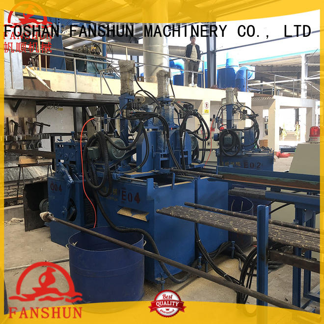 FANSHUN oxide metal drilling machine for bronze tube production in factory