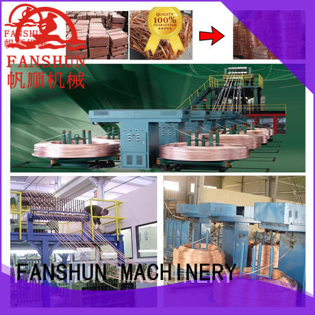 FANSHUN hot-sale upcast copper rod machine for brass melting in factory