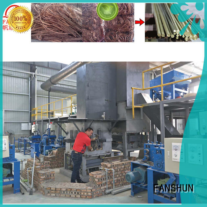 FANSHUN meting copper tube production in factory