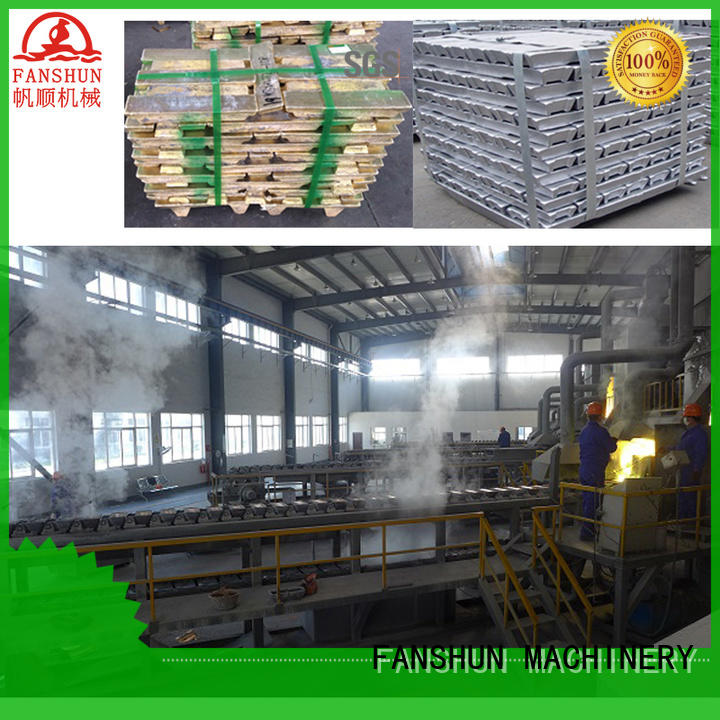 FANSHUN environmental brass billet continuous casting for bronze tube production in industrial park