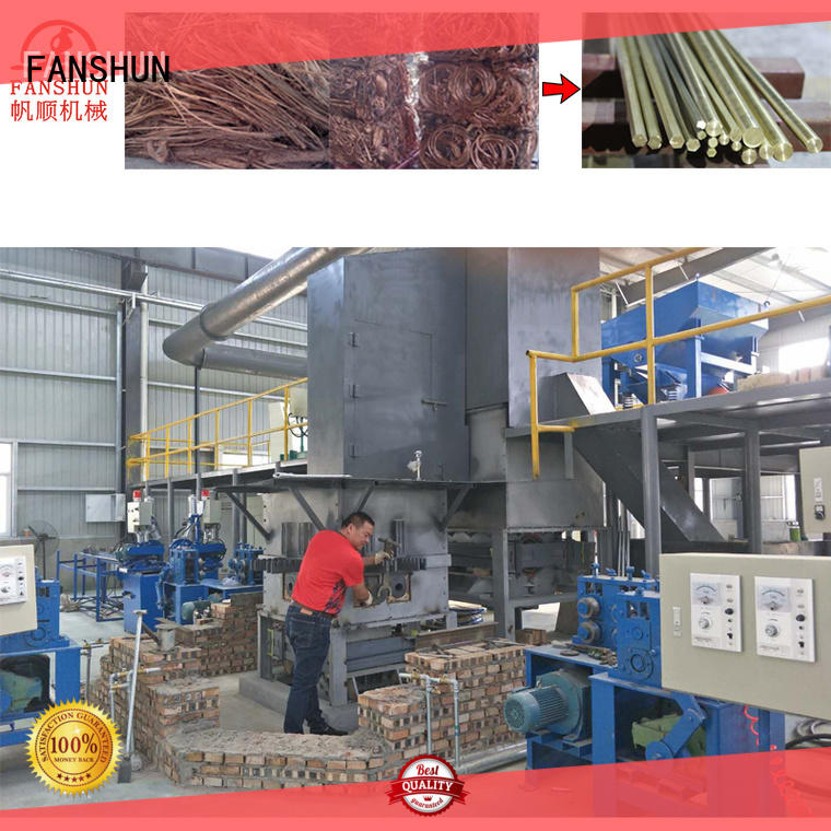 FANSHUN environmental extrusion production for brass rod in workhouse