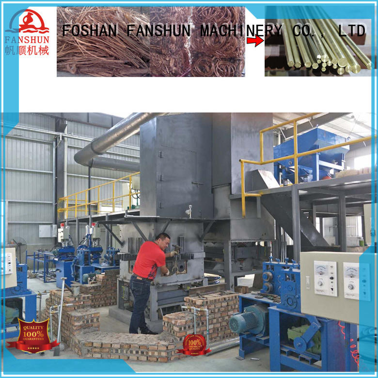 FANSHUN Brand tube brass rod production line production factory