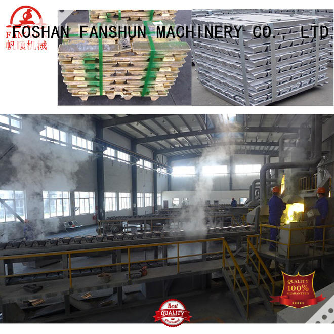 FANSHUN Brand copper induction aluminum ingot casting machines plant supplier