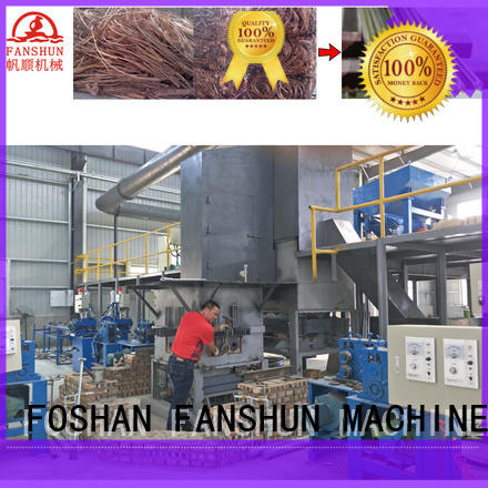 copper brass rod production line brass induction FANSHUN company