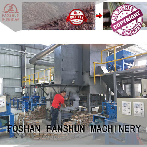 brass tube extruding production electric furnace copper FANSHUN Brand company