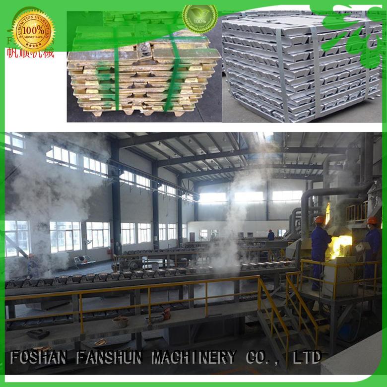 holding machine furnace FANSHUN Brand aluminum ingot casting machines manufacture