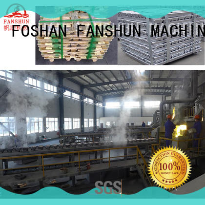 FANSHUN peeling brass billet equipment in factory