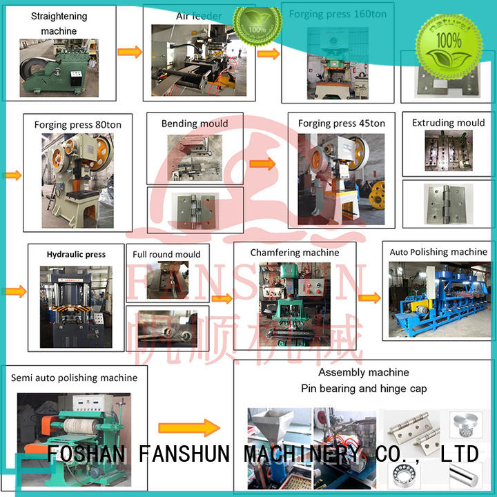 FANSHUN cost effective hinge automatic chamfering machine for copper production in factory