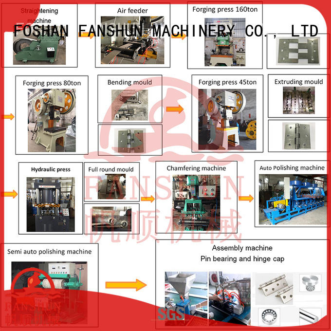 FANSHUN flush hinge mahcines for brass production in industrial park
