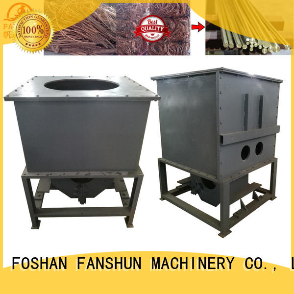 copper continuous FANSHUN Brand copper melting furnace for sale