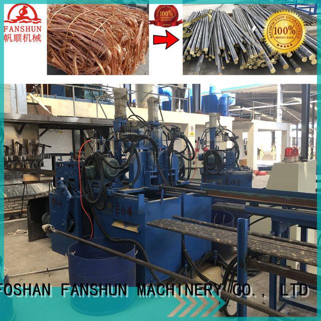 rods production copper continuous casting machine manufacturers FANSHUN Brand